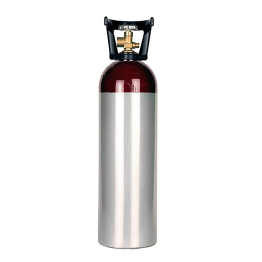 Gas Cylinder Source 60 cu ft Aluminum CO2 Nitrogen Mix Cylinder