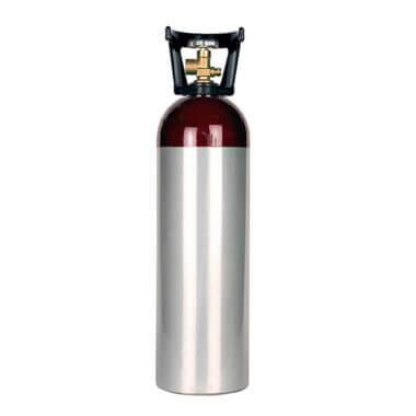 Gas Cylinder Source 60 cu ft aluminum helium cylinder