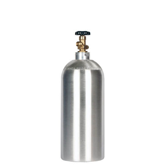 Gas Cylinder Source 10 lb Aluminum CO2 Cylinder No Handle