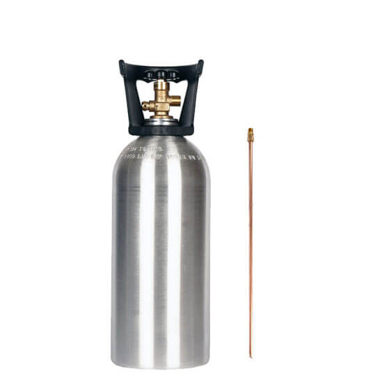 Gas Cylinder Source 10 lb Aluminum CO2 Cylinder with Siphon Tube