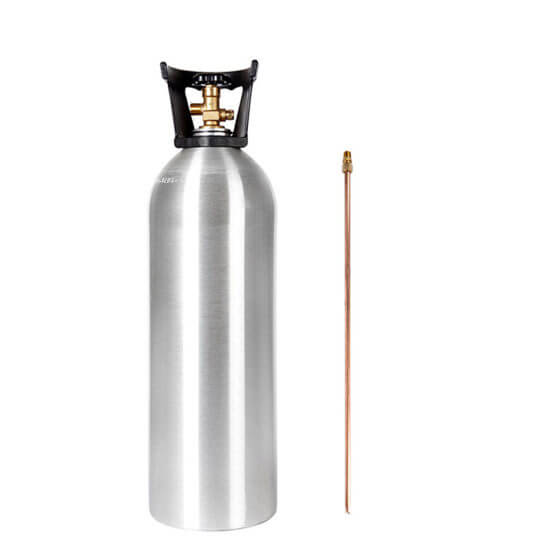 Gas Cylinder Source 20 lb Aluminum CO2 Cylinder with Siphon Tube