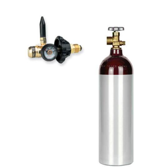 Gas Cylinder Source 22 cu ft Helium Balloon Kit - Helium Cylinder + Balloon Filler Valve