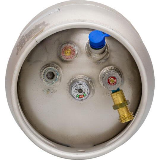 Gas Cylinder Source 33 lb Aluminum Forklift Cylinder Top No Quickfill Valve