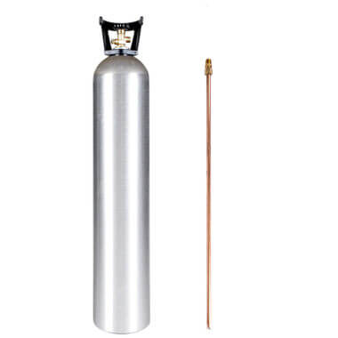 Gas Cylinder Source 35 lb Aluminum CO2 Cylinder with Siphon Tube