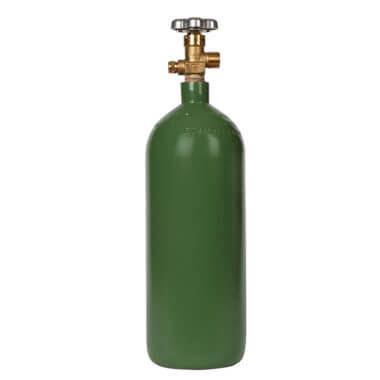 Gas Cylinder Source 40 cu ft Steel Oxygen Cylinder