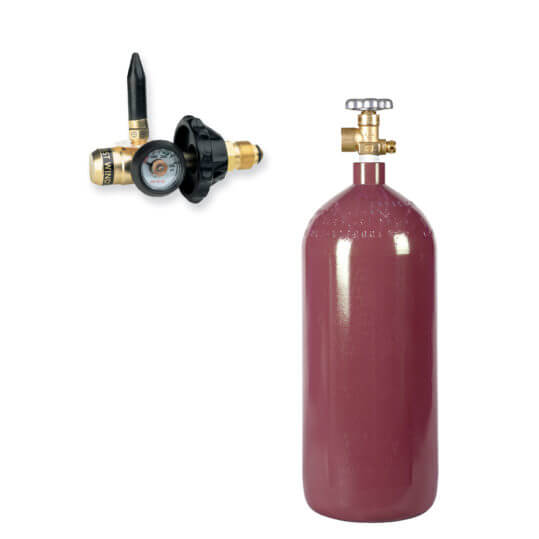 40 cu ft Helium Balloon Kit - Helium Cylinder + Balloon Filler Valve