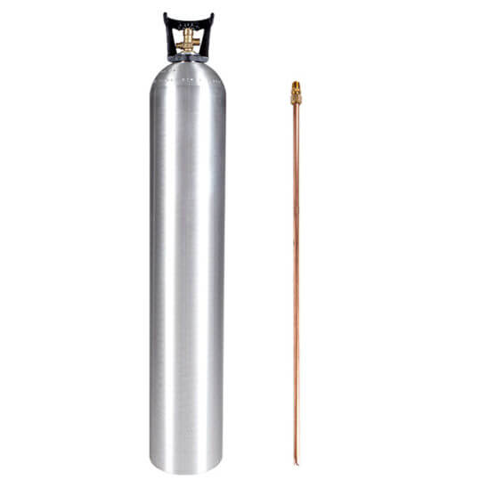 Gas Cylinder Source 50 lb Aluminum CO2 Cylinder with Siphon Tube