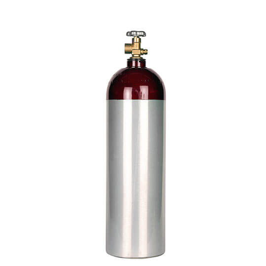 Gas Cylinder Source 22 cu ft aluminum argon cylinder