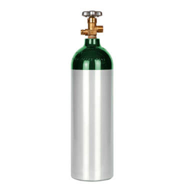 Gas Cylinder Source Aluminum 22 cu ft Oxygen Cylinder