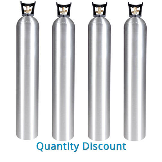 Gas Cylinder Source 50 lb Aluminum CO2 Cylinders - Volume Discount