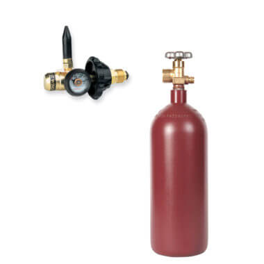 Gas Cylinder Source 20 cu ft Helium Balloon Kit with Helium Cylinder + Balloon Filler Valve