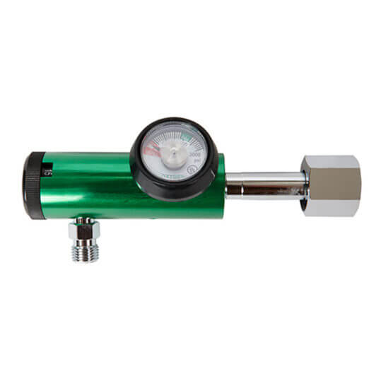 Gas Cylinder Source Medical Oxygen Regulator CGA540 Flared Fitting