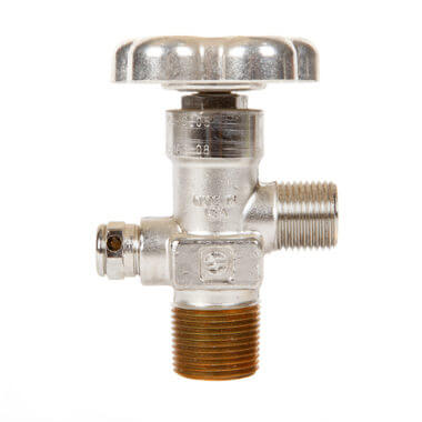Gas Cylinder Source Sherwood CGA326 Nitrous Oxide Valve Three Quarter Inch Chrome