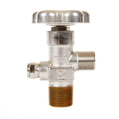 Gas Cylinder Source Sherwood CGA326 Nitrous Oxide Valve Three Quarter Inch Chrome