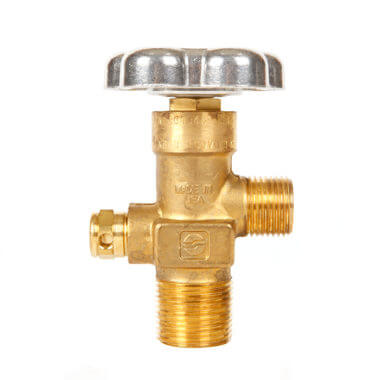Gas Cylinder Source Sherwood CGA346 Breathing Air Valve Three Quarter Inch