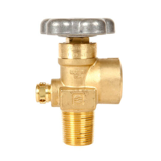 Gas Cylinder Source Sherwood CGA702 Breathing Air Valve Three Quarter Inch