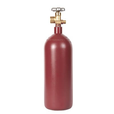 Gas Cylinder Source 20 cu ft steel argon cylinder