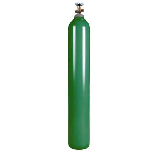 New 125 cu ft Steel Oxygen Cylinder