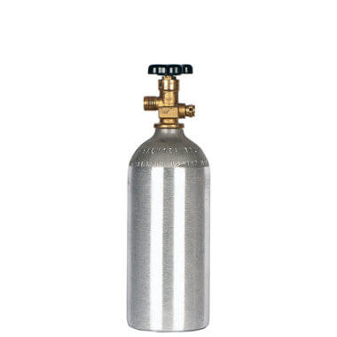 Gas Cylinder Source 2.5 lb. Aluminum CO2 Cylinder