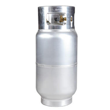 Gas Cylinder Source 33.5 lb Aluminum Forklift Propane Cylinder Without Quick Fill