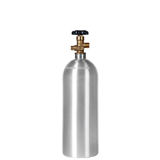 Gas Cylinder Source 5 lb Aluminum CO2 Cylinder