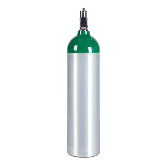 Gas Cylinder Source MD Aluminum Medical Oxygen Cylinder