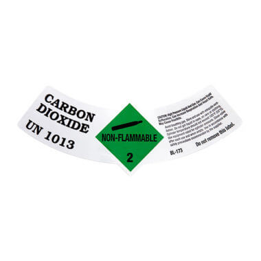 gas cylinder source co2 cylinder label UN 1013