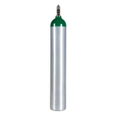 Gas Cylinder Source ME Aluminum Medical Oxygen Cylinder