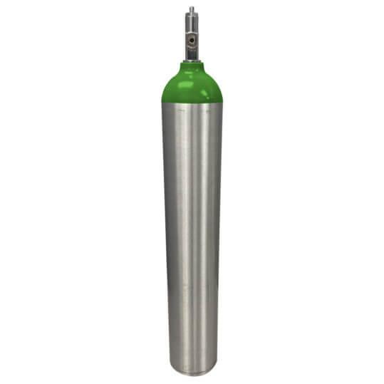 Refurbished ME Aluminum Oxygen Cylinder